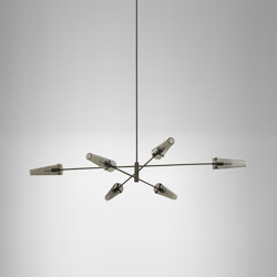 Axis large pendant bronze / smoked glass | Suspended lights | CTO Lighting