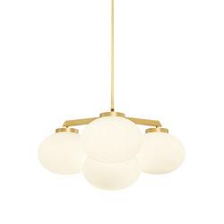 Cloudesley chandelier small satin brass | Chandeliers | CTO Lighting