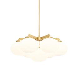 Cloudesley chandelier medium satin brass | Chandeliers | CTO Lighting