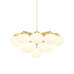 Cloudesley chandelier large satin brass | Chandeliers | CTO Lighting
