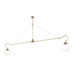 Floren pendant 2 arms - antique brass | Suspended lights | CTO Lighting
