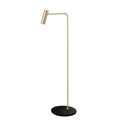 Heron floor satin brass | Standleuchten | CTO Lighting