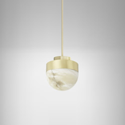 Lucid 200 pendant satin brass | Suspended lights | CTO Lighting