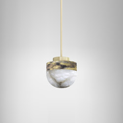 Lucid 200 pendant silvered brass | Suspended lights | CTO Lighting