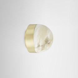 Lucid flush 200 satin brass | Wall lights | CTO Lighting