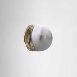 Lucid flush 200 silvered brass | Wall lights | CTO Lighting
