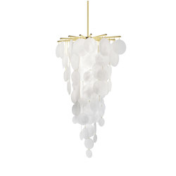 Nimbus cascade satin brass | Chandeliers | CTO Lighting