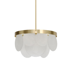 Sasha pendant satin brass | Suspended lights | CTO Lighting