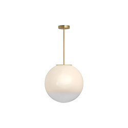 Skye pendant medium satin brass | Suspended lights | CTO Lighting
