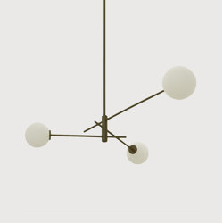 Trevi pendant 3 bronze | Suspended lights | CTO Lighting