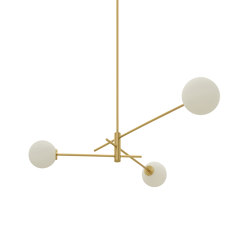 Trevi pendant 3 satin brass | Suspended lights | CTO Lighting