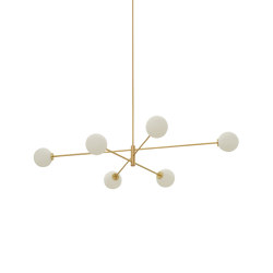 Trevi pendant 6 satin brass | Suspended lights | CTO Lighting