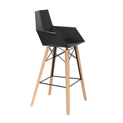 Faz wood bar stool with arms | Barhocker | Vondom