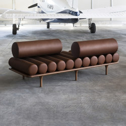 Five to Nine Daybed With Vis A Vis Backrest | Lettini / Lounger | Tacchini Italia