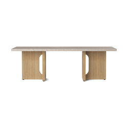 Androgyne Lounge Table, Natural Oak | Kunis Breccia | Coffee tables | MENU