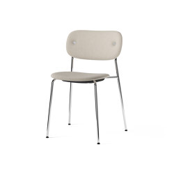 Co Chair, fully upholstered, Chrome | Doppiopanama T14012 004 | Chairs | MENU