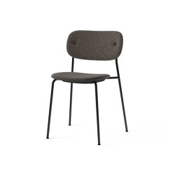 Co Chair, fully upholstered, Black | Doppiopanama T14012 001 | Chairs | MENU