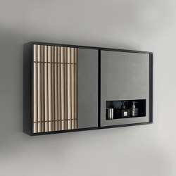 Case - LED light mirror cabinet with marine plywood shelf cm.105x50x13,5 | Armarios espejo | NIC Design