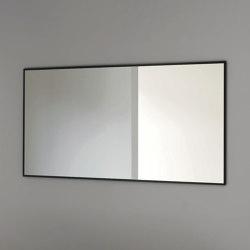 Outline - rectangular steel framed mirror | Bath mirrors | NIC Design