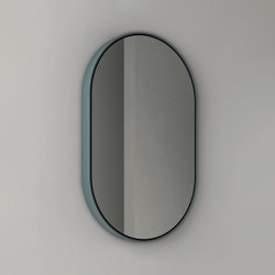 Parentesi - becklit LED light oval mirror with ceramic frame | Bath mirrors | NIC Design