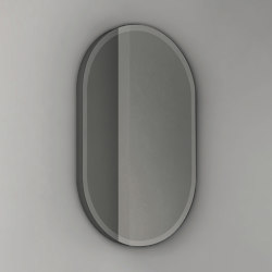 Pastille - becklit LED light oval mirror frosted border. Steel-backed | Bath mirrors | NIC Design