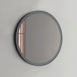 Pastille - becklit LED light round mirror frosted border. Steel-backed | Bath mirrors | NIC Design