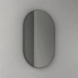 Pastille - steel-backed frameless oval mirror | Bath mirrors | NIC Design