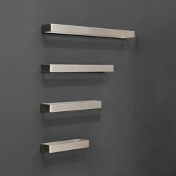Asta steinless steel towel holder with storage box | Handtuchhalter | NIC Design