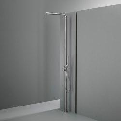 Q | Ducha de exteriores con chorro de lluvia de agua ajustableconmezclador hidroprogresivo, desviador y duchita de mano | Duchas de exterior | Quadrodesign