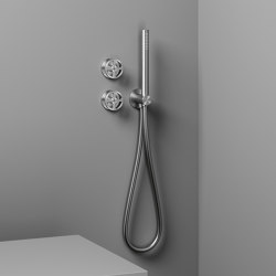 Valvola02 | Grupo mezclador hidroprogresivo para bañera/ducha con teleducha | Grifería para duchas | Quadrodesign