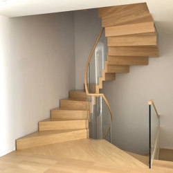 Zig Zag helical | Staircase systems | Siller Treppen