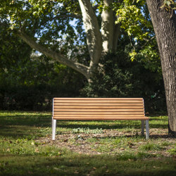 emau | park bench with backrest | Benches | mmcité