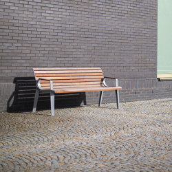 emau | park bench with backrest and armrest | Benches | mmcité