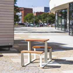 rautster | Picnic set double-sided for 2 persons | Table-seat combinations | mmcité