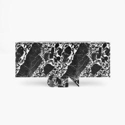 SIDEBOARD – FS 4 Grand Antique Marble, White-Black | Aparadores | RECHTECK FELIX SCHWAKE