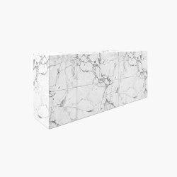 SIDEBOARD – FS 21-A  Arabescato Marble, White   Credenze   RECHTECK FELIX SCHWAKE