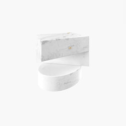SIDE TABLE – FS 124 Calacatta Marble, White | Tables d'appoint | RECHTECK FELIX SCHWAKE