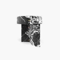 SIDE TABLE – FS 128-A  Grand Antique Marble, White-Black | Side tables | RECHTECK FELIX SCHWAKE