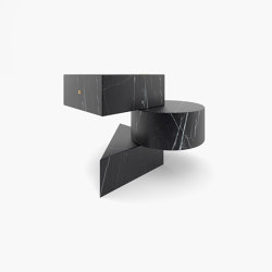 SIDE TABLE – FS 130-1  Nero Marquina Marble, Black | Side tables | RECHTECK FELIX SCHWAKE