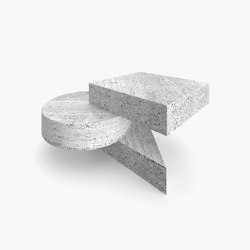 SIDE TABLE – FS 130-2  Travertine | Tables d'appoint | RECHTECK FELIX SCHWAKE