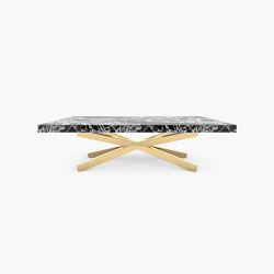 DINING TABLE – FS 174 Grand Antique Marble, White-Black | Dining tables | RECHTECK FELIX SCHWAKE