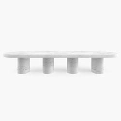 DINING TABLE – FS 180 Calacatta Marble, White | Mesas comedor | RECHTECK FELIX SCHWAKE