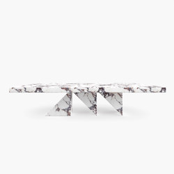 DINING TABLE – FS 190-1  Alabaster, White-Red | Dining tables | RECHTECK FELIX SCHWAKE