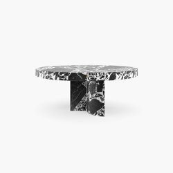 DINING TABLE – FS 194-A  Grand Antique Marble, White-Black   Dining tables   RECHTECK FELIX SCHWAKE