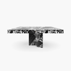 DINING TABLE – FS 194-F  Grand Antique Marble, White-Black   Dining tables   RECHTECK FELIX SCHWAKE