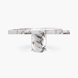 DINING TABLE – FS 194-G  Alabaster, White-Red | Dining tables | RECHTECK FELIX SCHWAKE
