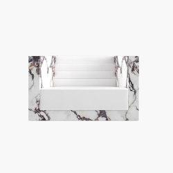 ARMCHAIR – FS 403 Alabaster, White-Red | Armchairs | RECHTECK FELIX SCHWAKE