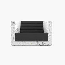 ARMCHAIR – FS 403 Arabescato Marble, White | Armchairs | RECHTECK FELIX SCHWAKE