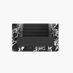 ARMCHAIR – FS 403 Grand Antique Marble, White-Black | Armchairs | RECHTECK FELIX SCHWAKE