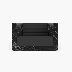 ARMCHAIR – FS 403 Portoro Gold Marble, Black-Gold | Armchairs | RECHTECK FELIX SCHWAKE